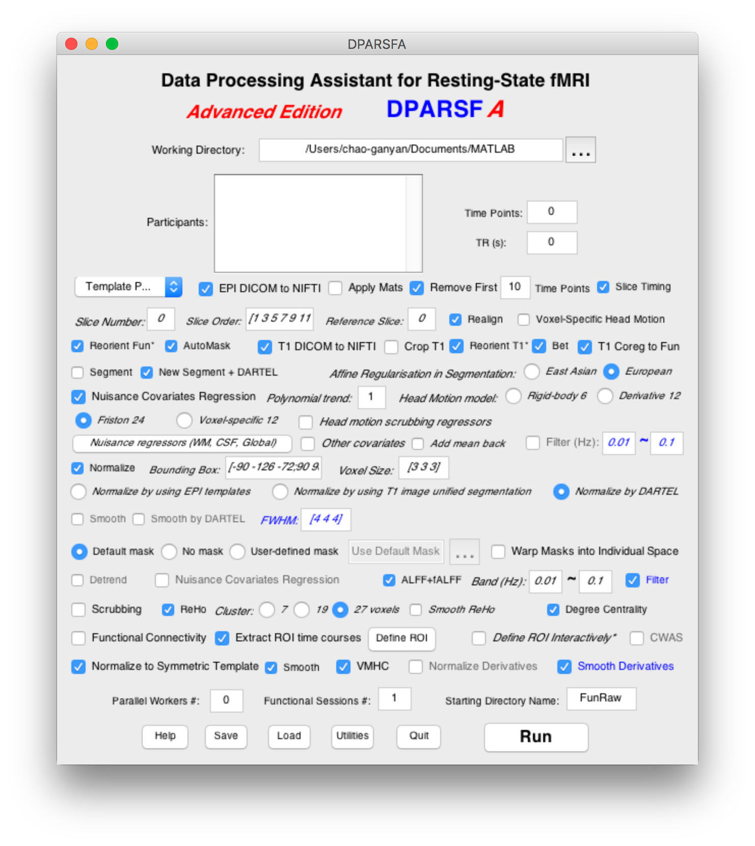 Data Processing Assistant for Resting-State fMRI (DPARSF